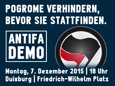 Bildquelle: http://autonomepolitiknrw.blogsport.eu/2015/11/23/antifaschistische-demonstration-am-07-12/ Bildrechte: unbekannt